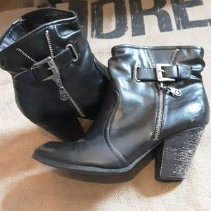 Guess Leather Ankle Boots